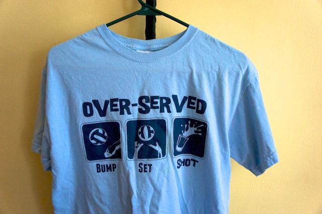 Over-served Volleyball T-Shirt