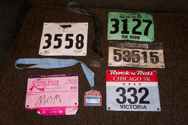 Bibs and Medals so far from 2011