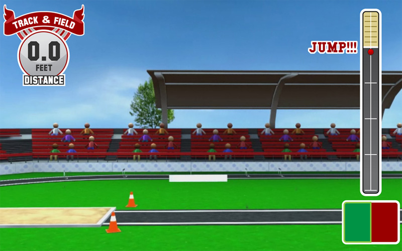 Long Jump Game Screen