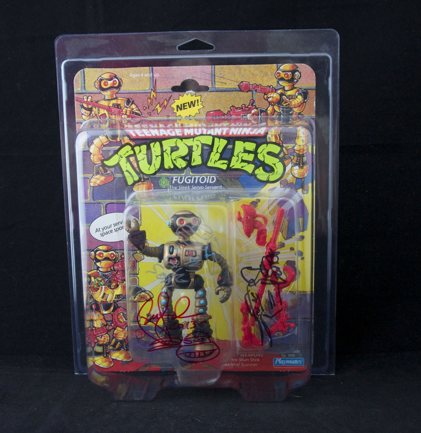 Vintage Playmates Fugitoid signed by all three artists.