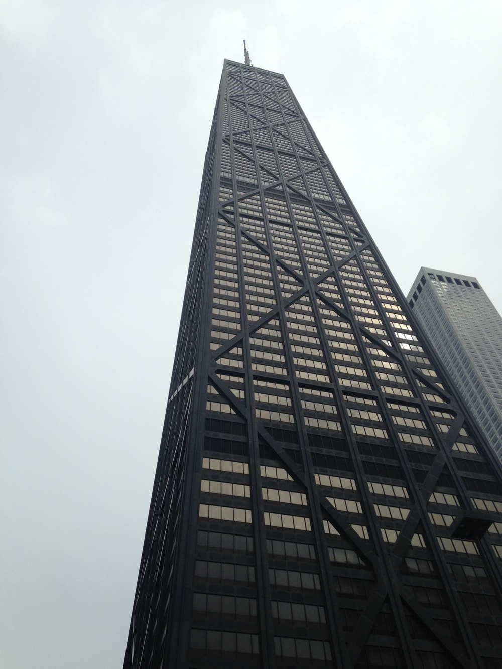 Hancock tower from below