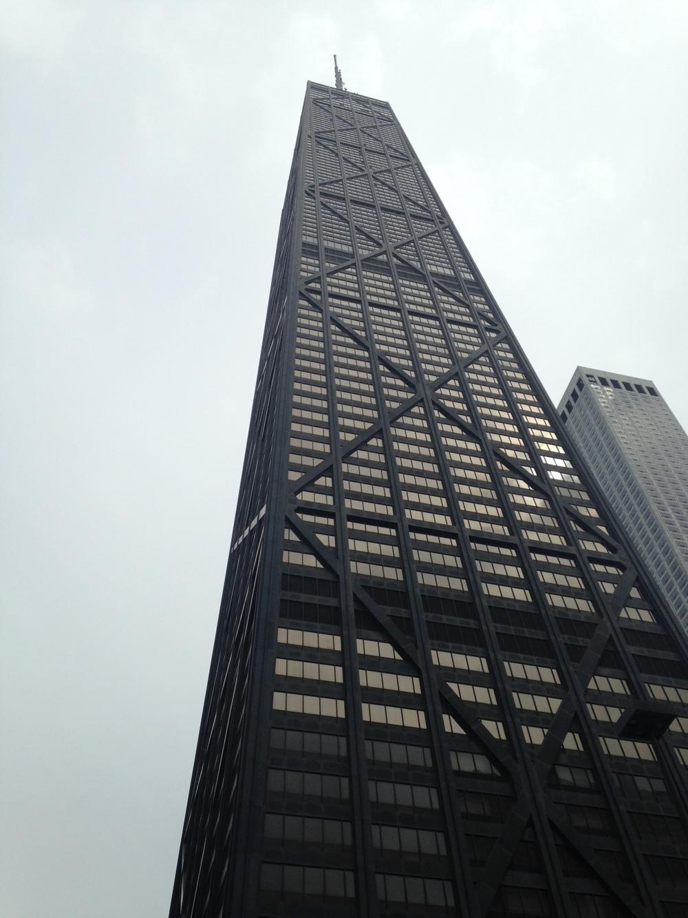 Hancock tower from below