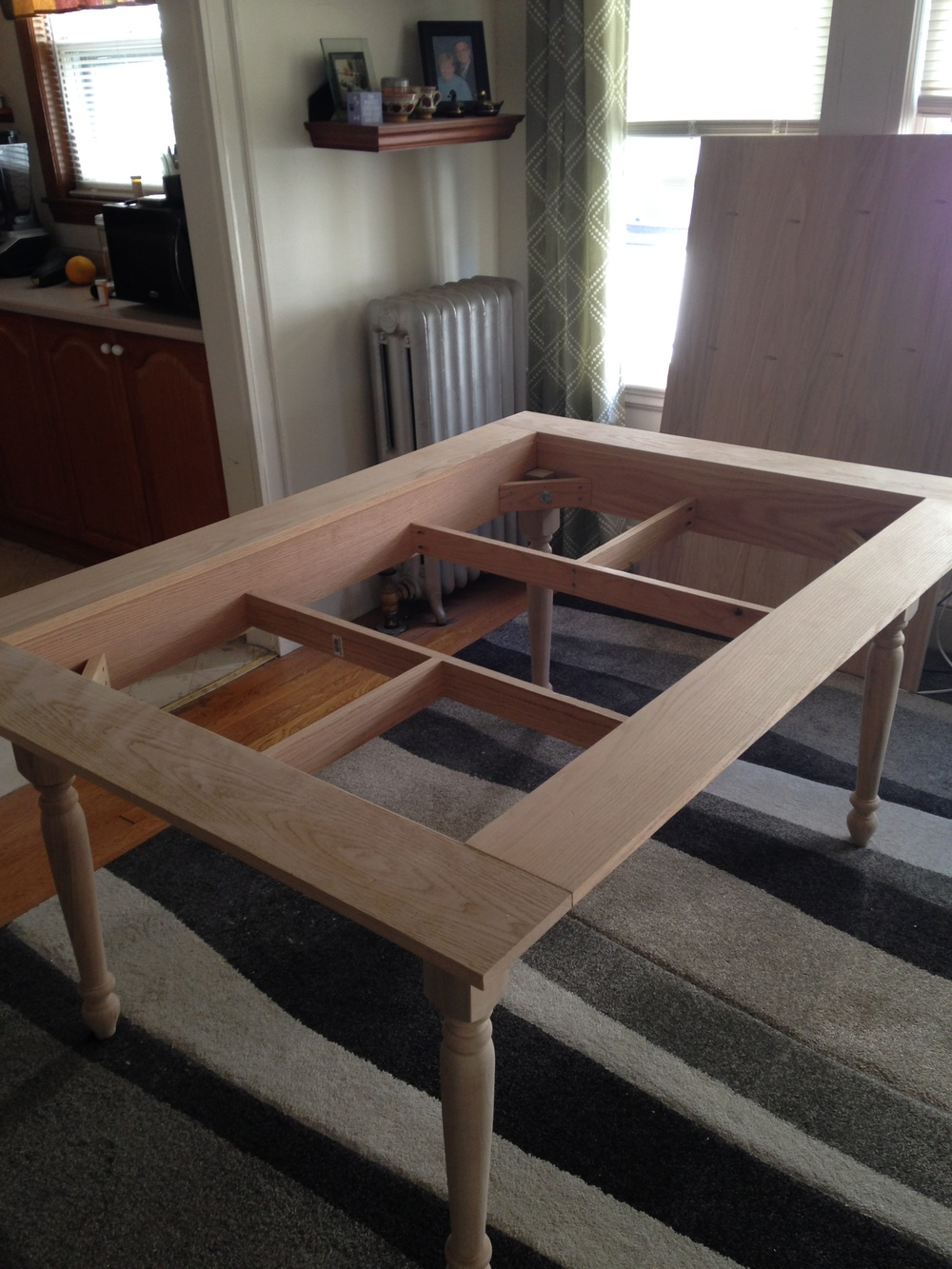 Table framed out