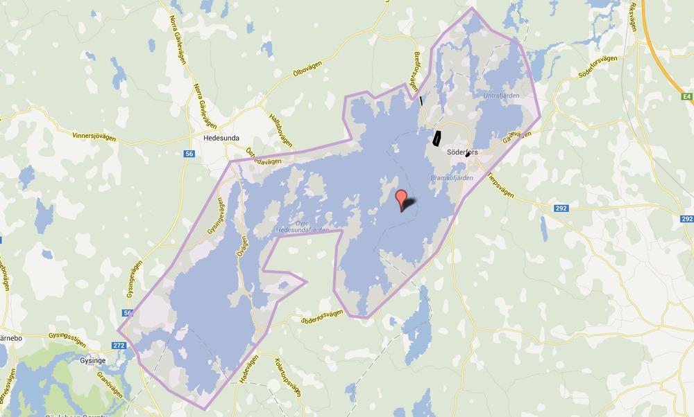 Områdeskarta - Klicka på bilden för länk till detaljerad karta.