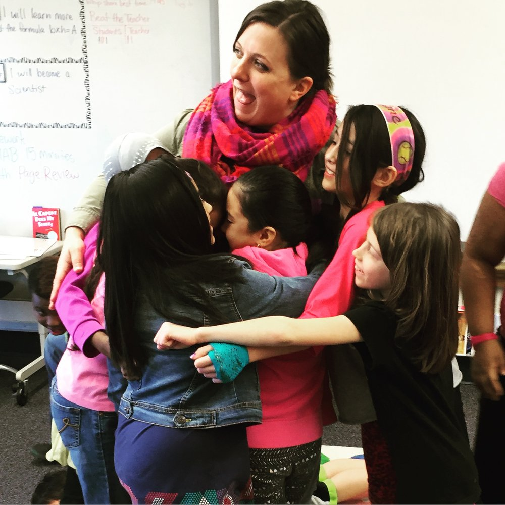 Aquila Elementary, 2016 ended with a group hug! How cool is that?!