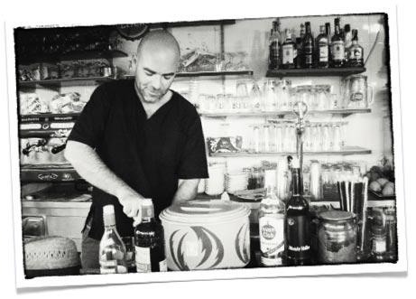 Nelson Agapito, owner of the beach Bar Kiosk Agapito.