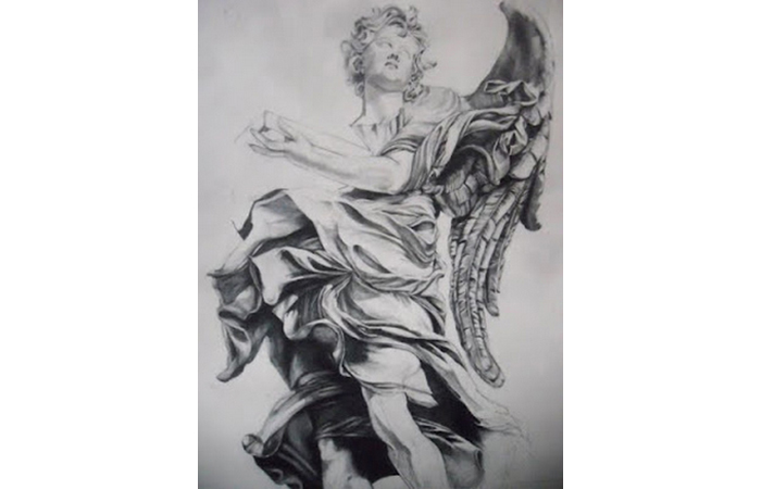 Harriet Faith, Angel, Graphite on Paper, 28 x 20 inches, 2006  ​