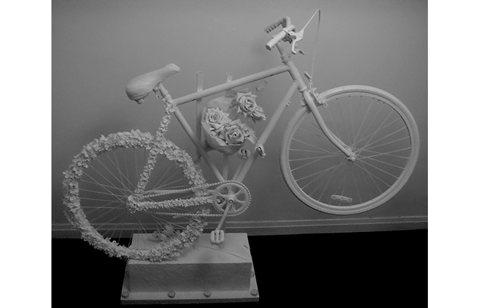 Araba Ocran, Ghostbike, mixed materials, dimension varied, 2012