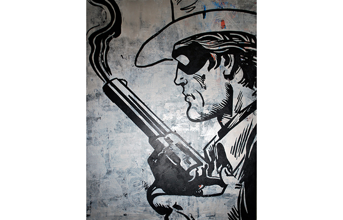 "Jacob Thomas, Lone Ranger, Acrylic on Wood, 48 x 36"", 2012"