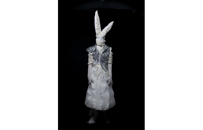 Erik Bergrin, Bunny Faces, Wool, Silk, Dimensions Varied, 2010  ​