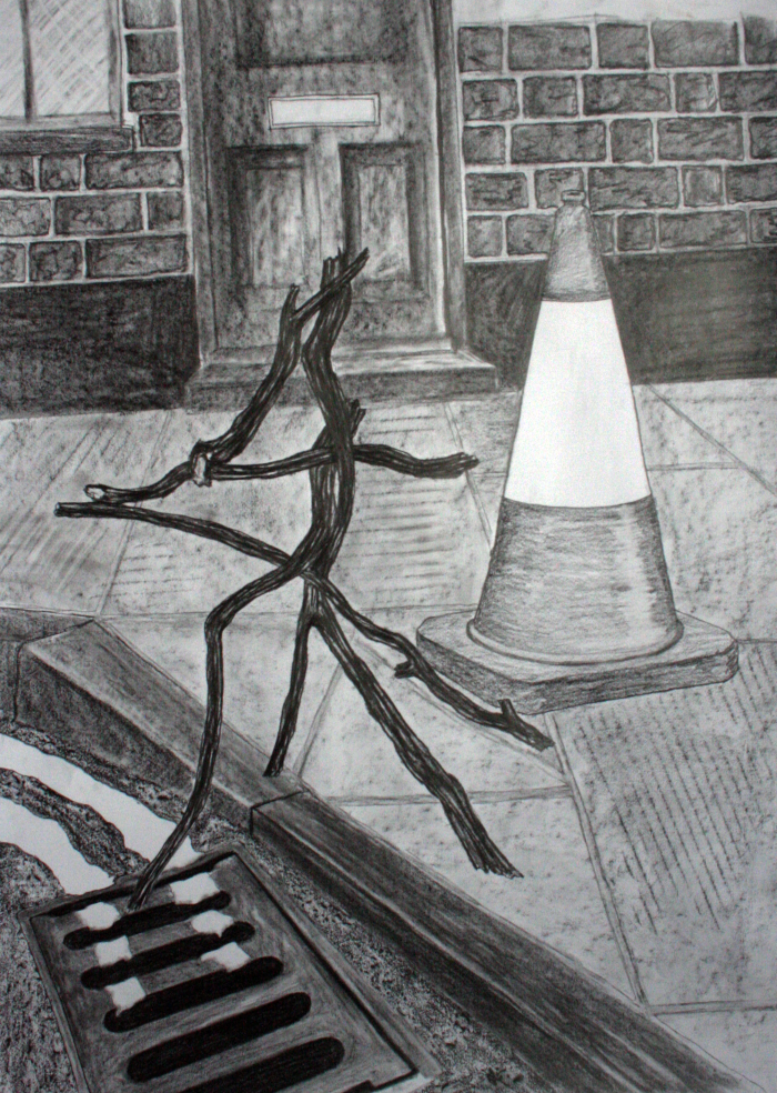 Jemma Watts, Portent 4, Graphite on Paper, 32.2 x 23.2 inches (82 x 59 cm), 2012
