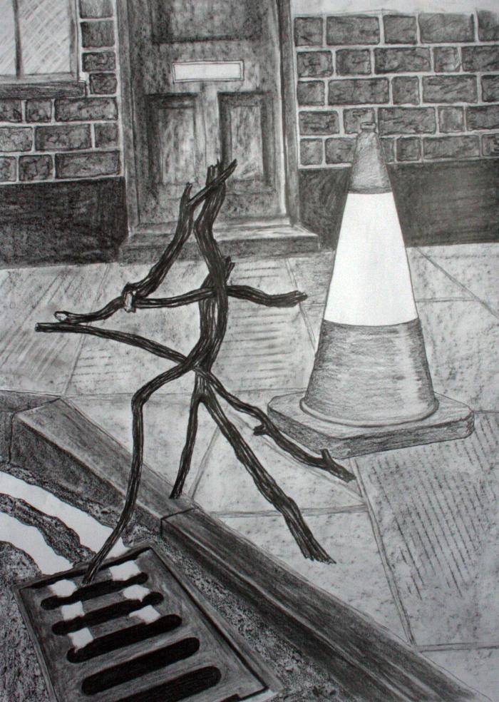 Jemma Watts, Portent 4, Graphite on Paper, 32.2 x 23.2 inches(82 x 59 cm), 2012