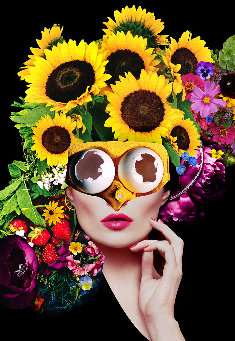Collagism, Full Bloom, Digital Manipulated Collage, 2015