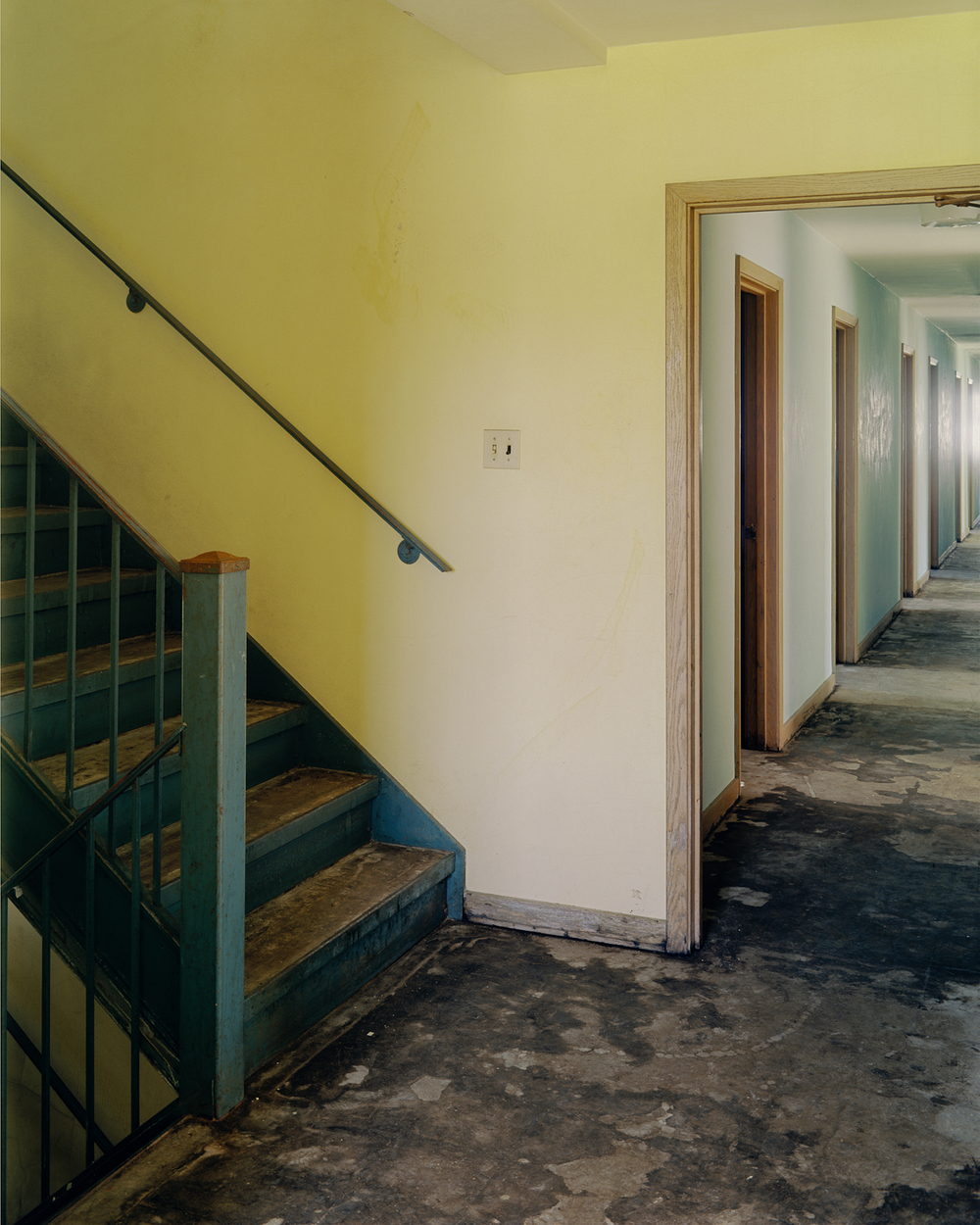 Stairwell and hallway, Dormitory Building.