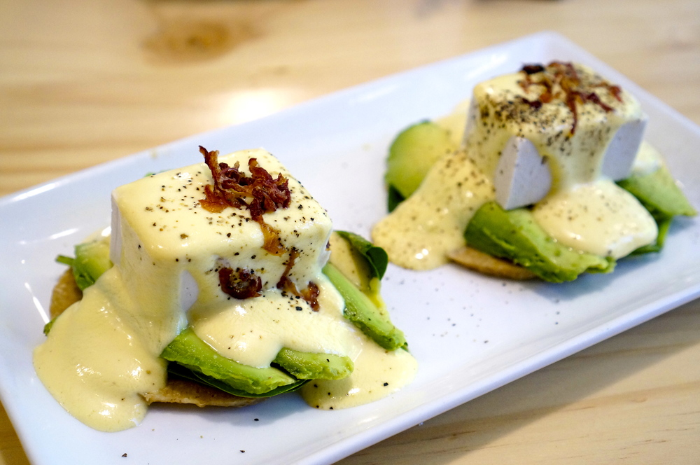 FOFU FLORENTINE WITH CASHEW HOLLANDAISE SAUCE