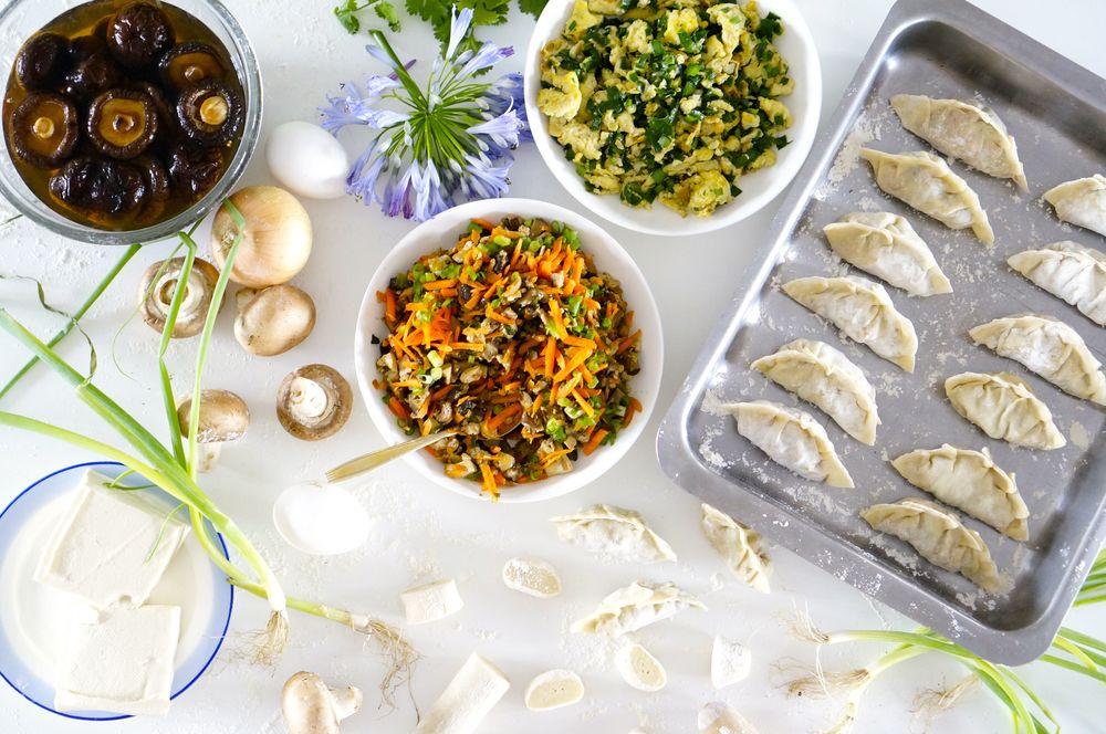vegetarian dumplings (shuijiao)