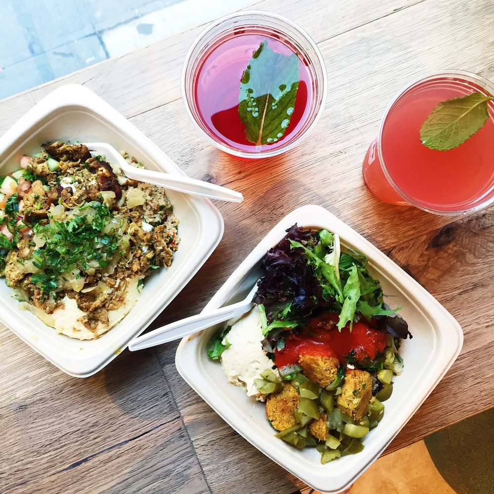 MEDITERRANEAN BOWLS + HIBISCUS TEA FROM NANOOSH