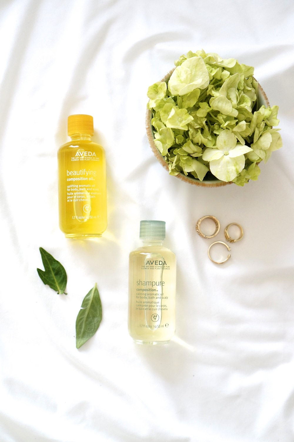 AVEDA BEAUTIFYING COMPOSITION OIL   AND   SHAMPURE COMPOSITION OIL