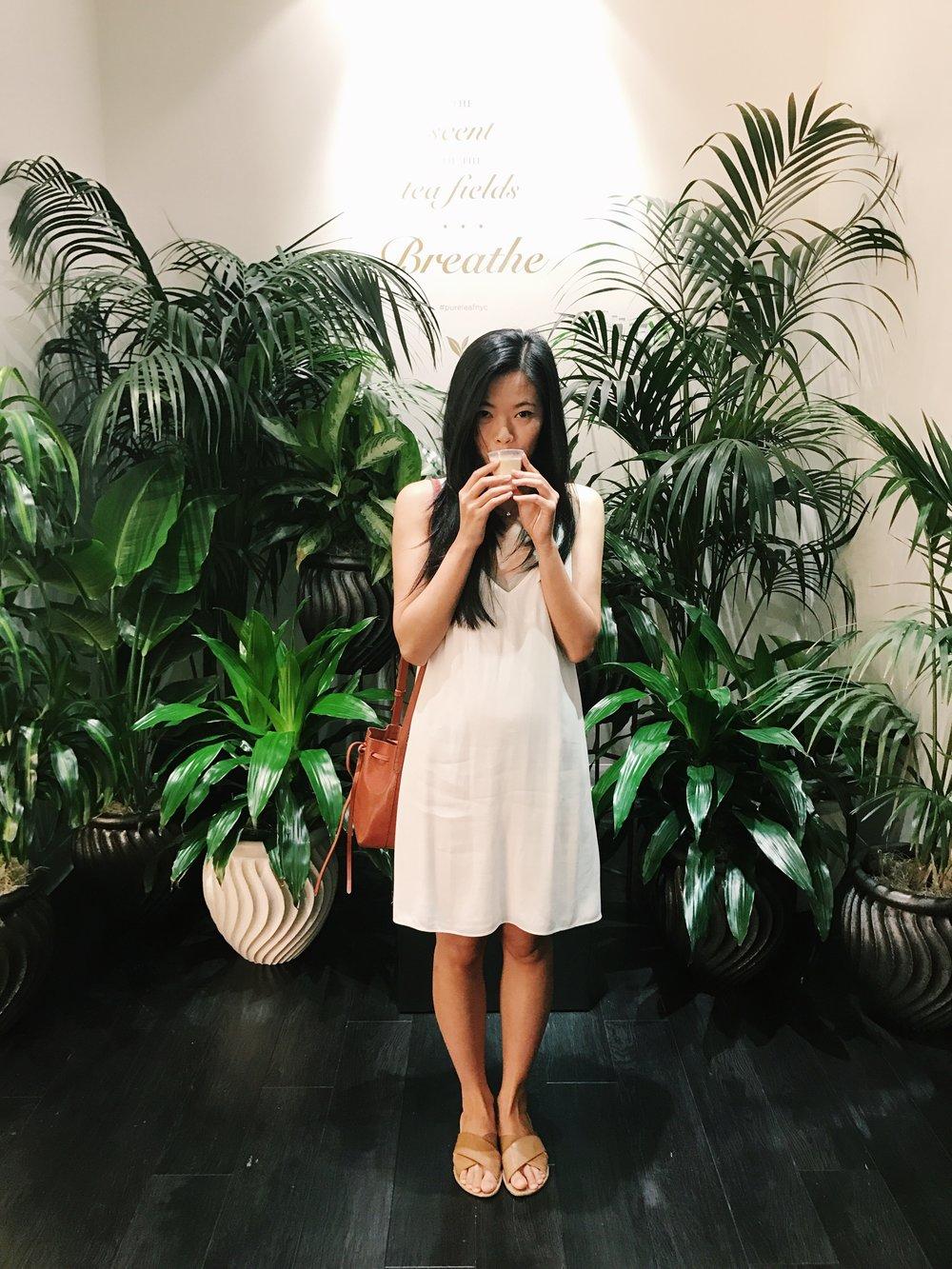 leanne wei honeyandvelvet at pure leaf tea house nyc