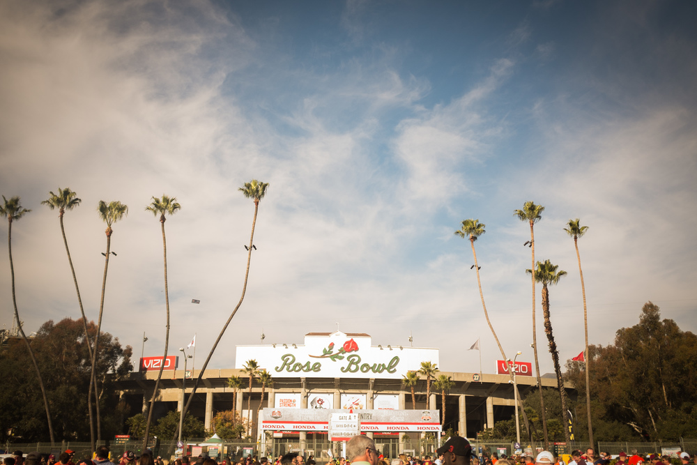 The Rose Bowl under sunny California skies.