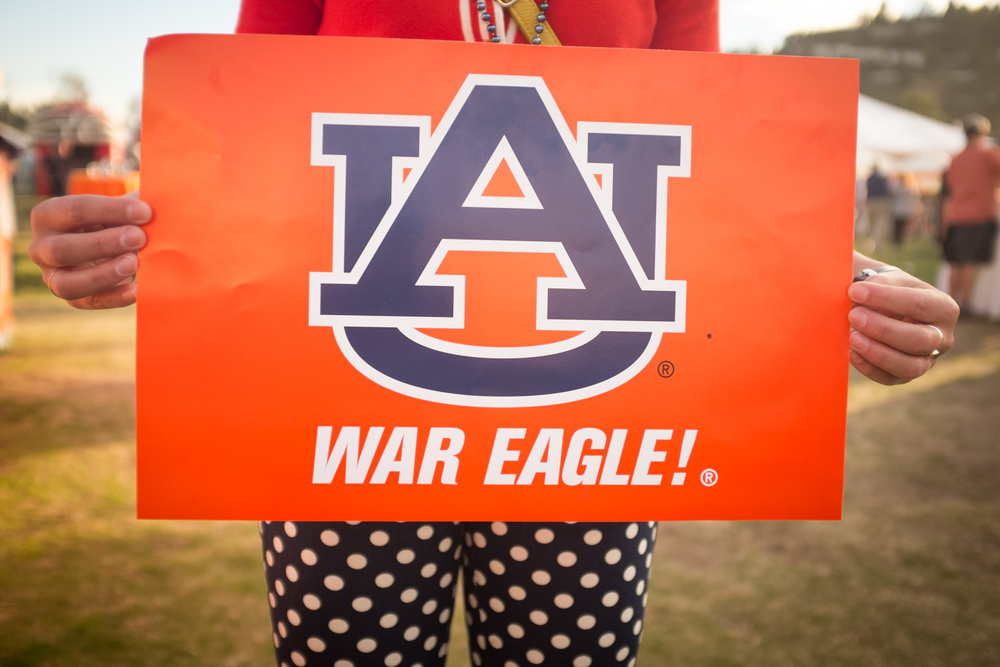 "While it is the Auburn Tigers football team, one must never forget that the proper greeting and chant is always ""War Eagle!"""
