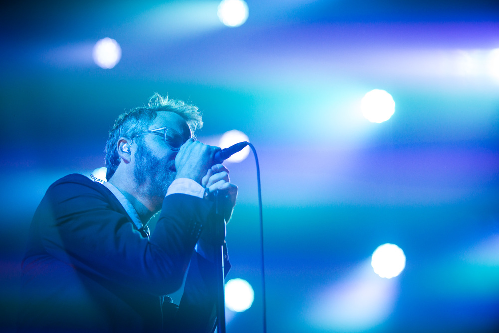 Matt Berninger of The National performing at the Roy Wilkins Auditorium August 6th 2013, Saint Paul, MN.