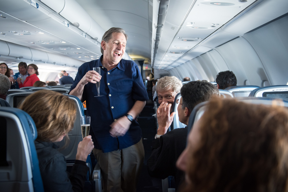 To celebrate the festive mood of the tour, champagne was served on the charted flight that flew direct from MSP to Havana, Cuba.