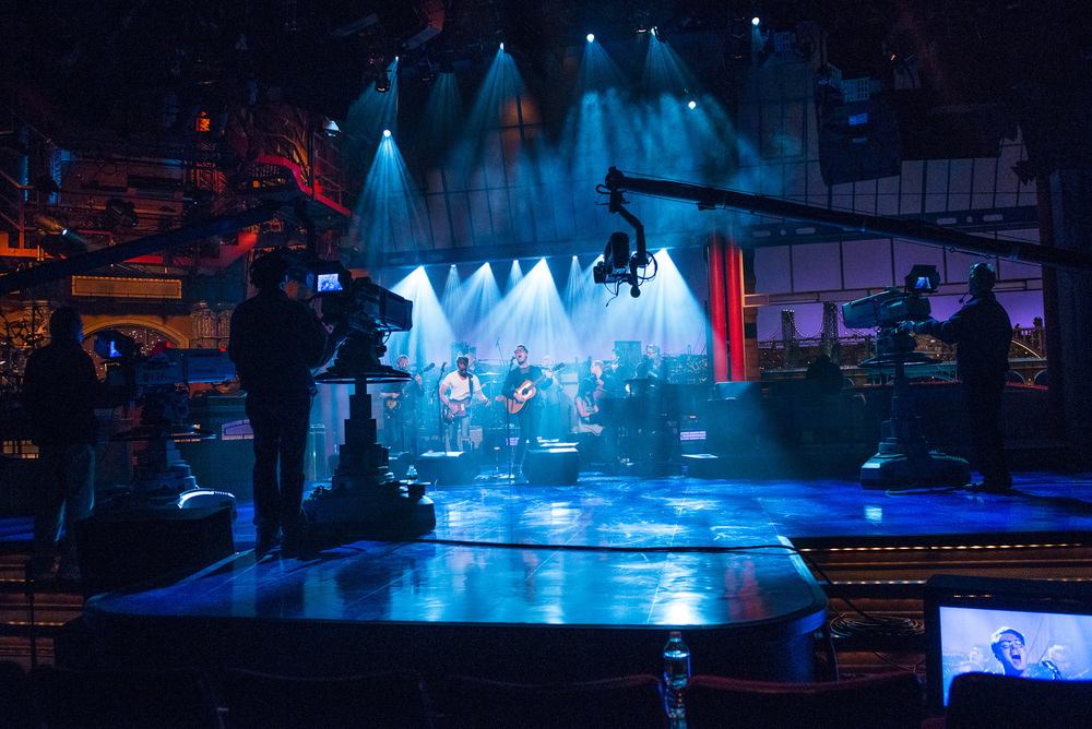 Backstage at David Letterman with Jeremy Messersmith