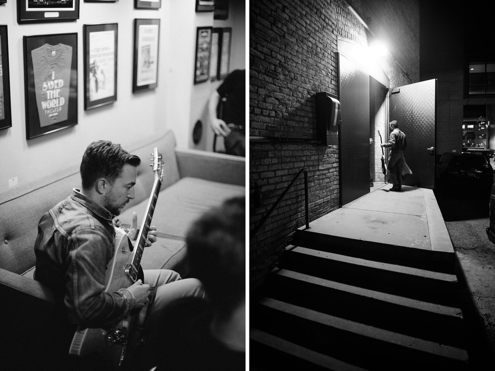 JD McPherson - Back stage at A Prairie Home Companion