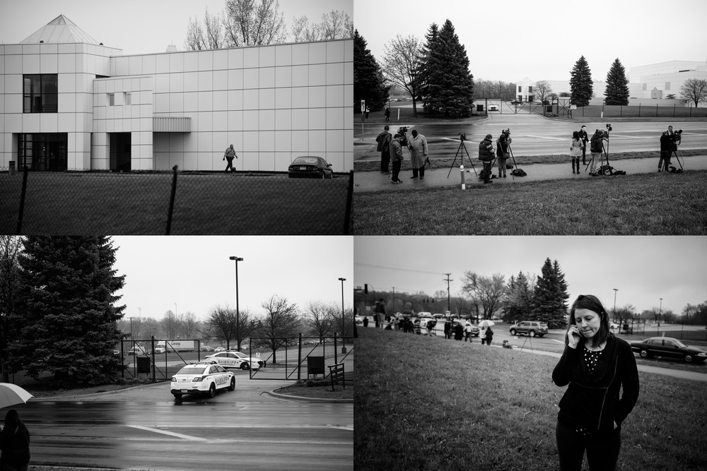 Sherif's vehicle enters Paisley Park in Chanhassen MN, April 21st, 2016.