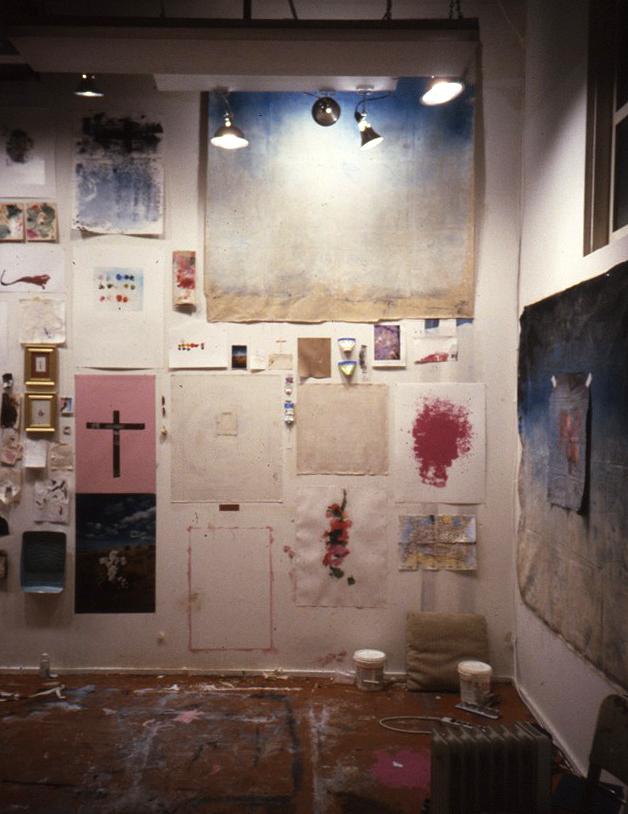 Studio wall while inBerkeley's MFA program. Richmond, 2001