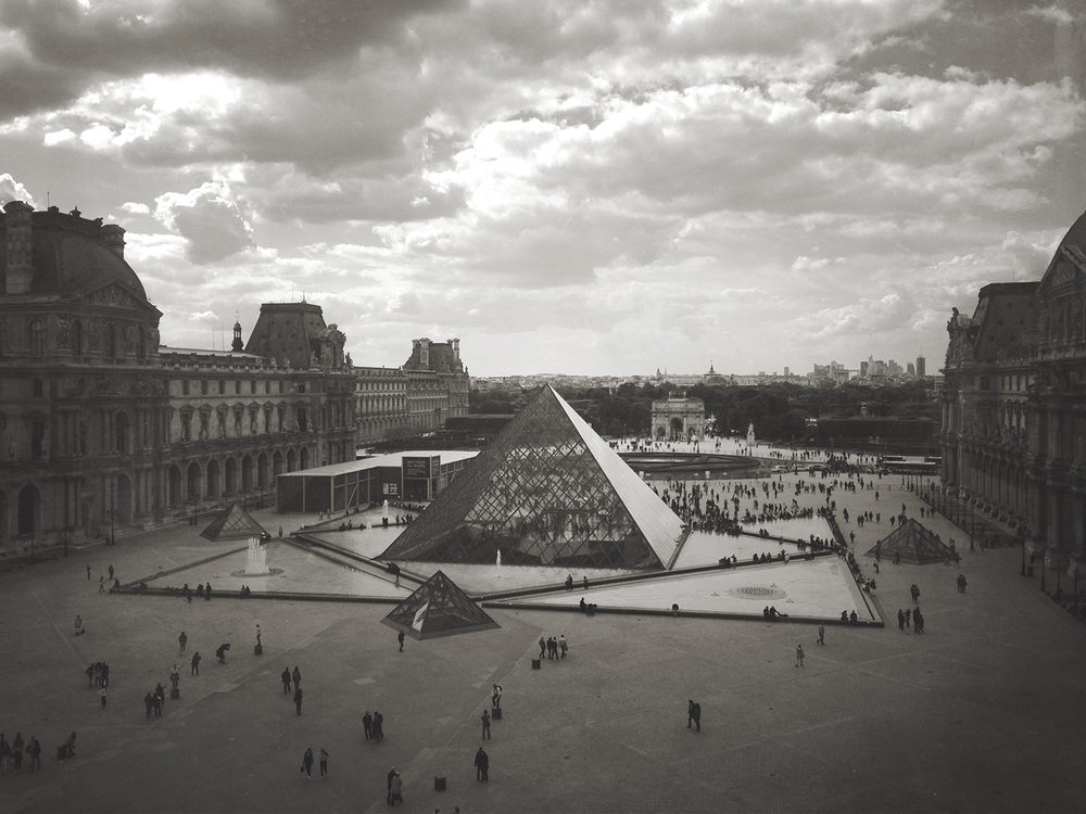 The Louvre from above.