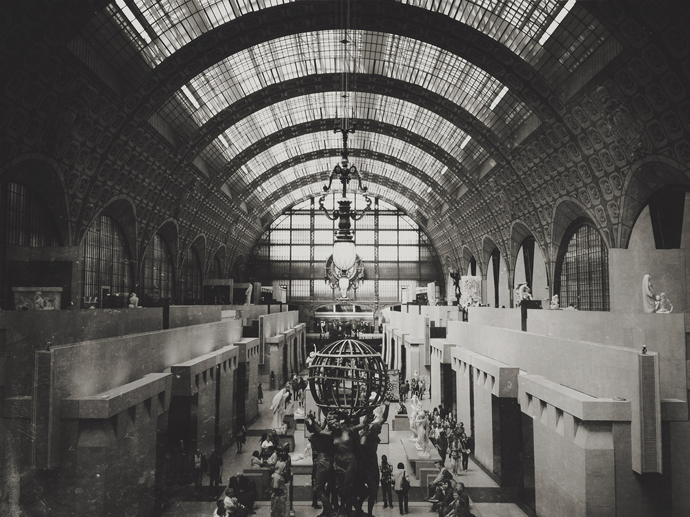 Musée d'Orsay, converted train station.