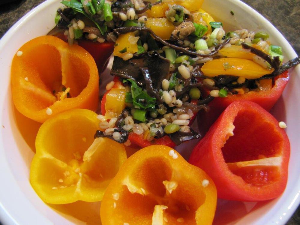PeppersStuffed with Wild Mushrooms & Barley