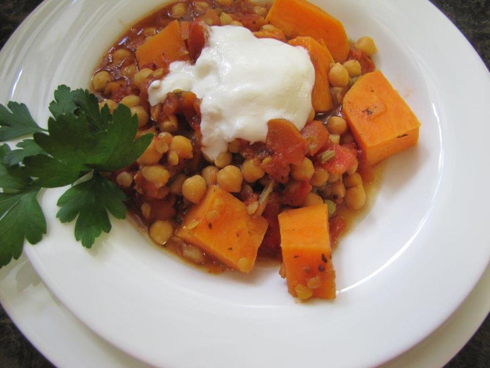 Chick Pea & Sweet Potato Stew