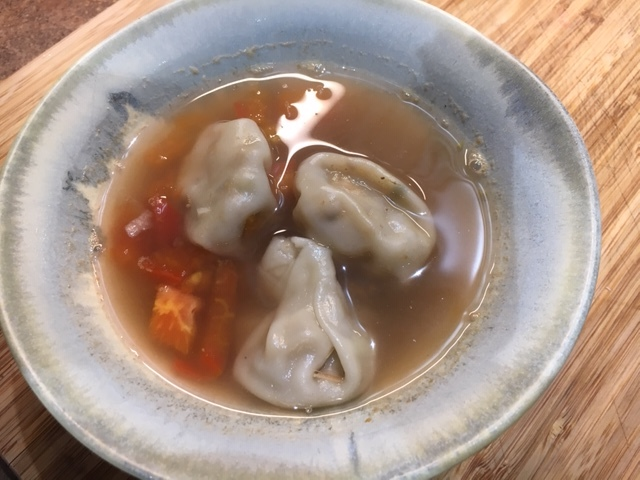 Spicy Vegan Wonton Soup