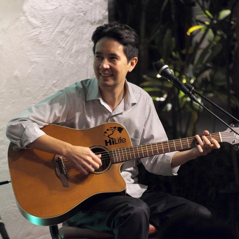 Jon Yamasato performing at The Willows