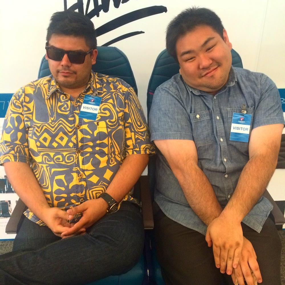 """Thomas Obungen (L) &  Grant """"Chuggy bear"""" Shindo  ."""
