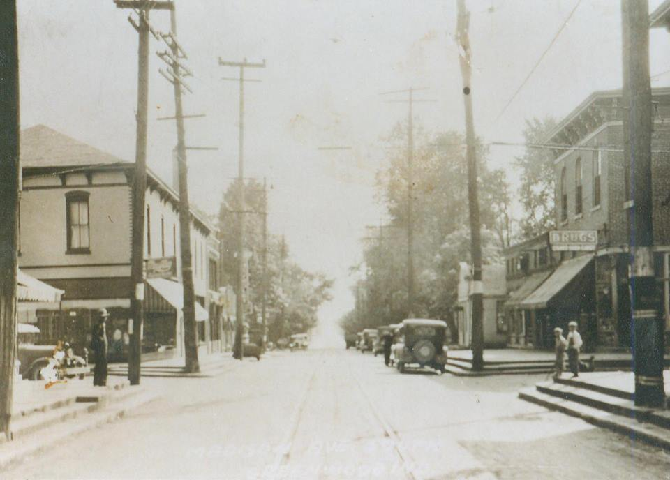 My great grandfather's store on the left, far side of the intersection.
