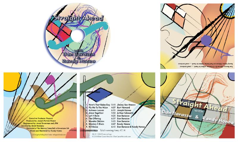 """Straight Ahead"" with Dan Baraszu & Randy Honea jazz CD cover on Blue Canoe Records."