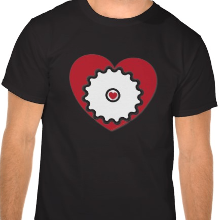 Cyclist @ Heart - Men's T-Shirt