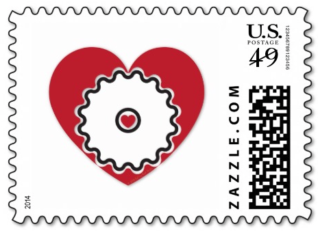 Cyclist @ Hear Postage Stamps