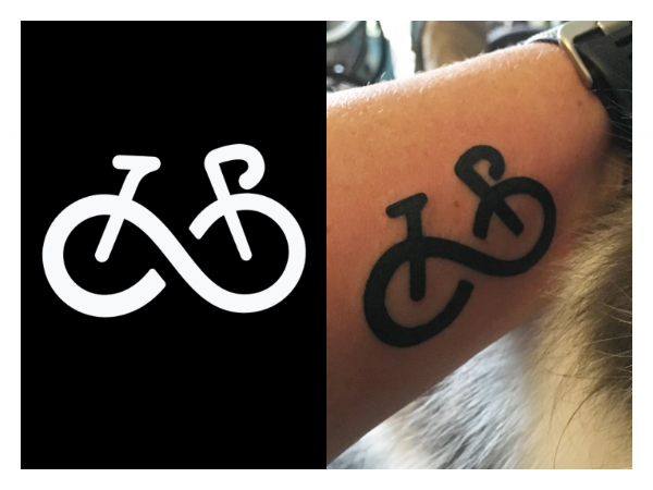 """Bicycle Forever"" tattoo design"