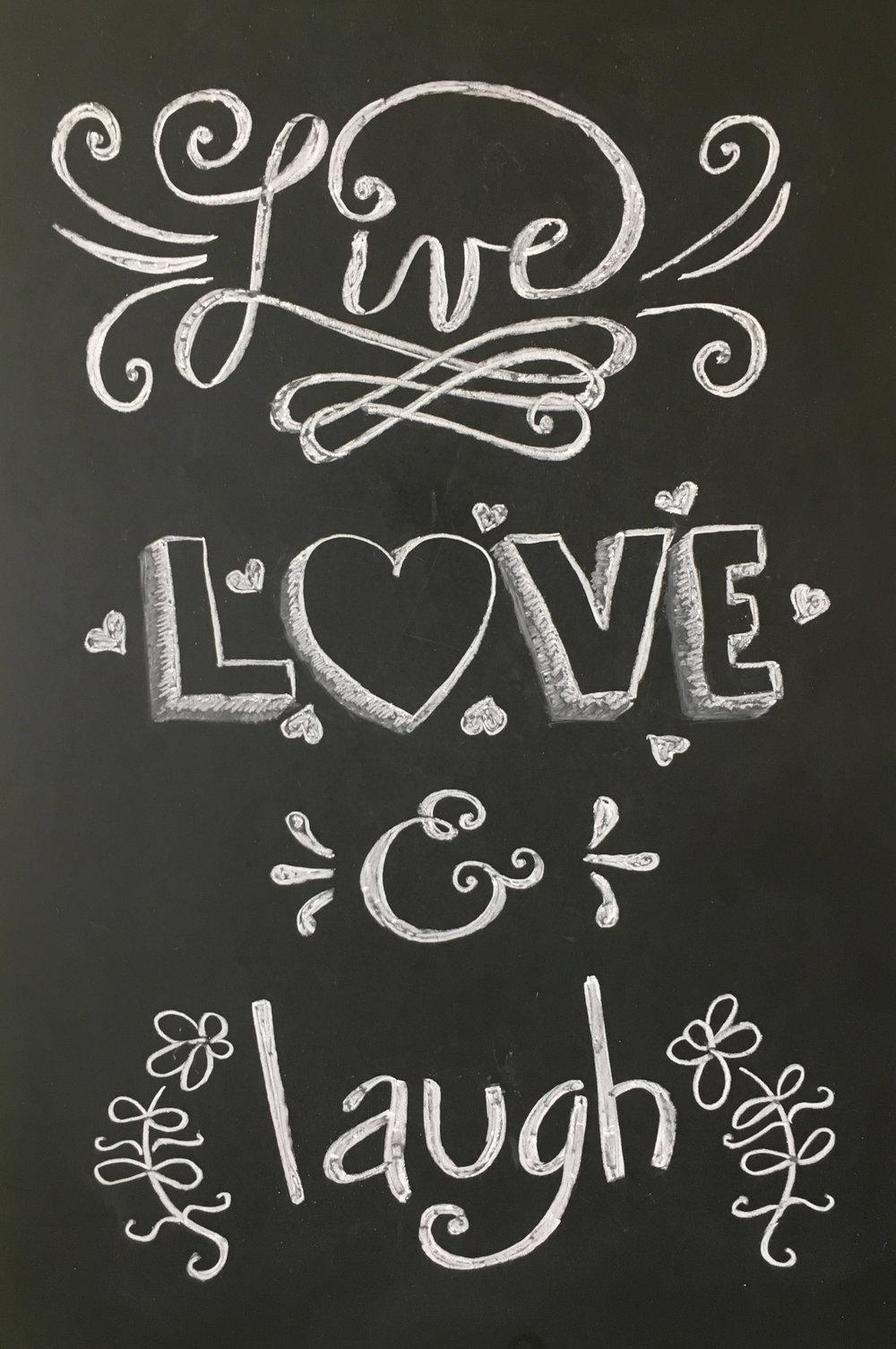 Chalkboard Art, Hand Lettering & Signage -