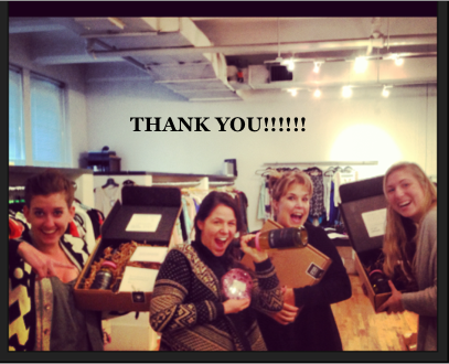 We just love this shot of our NY Showroom enjoying their gifts!