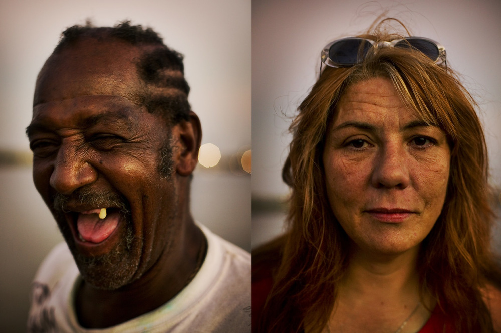 "Philip ""Doctor Love"" Turner, 62. Alva McKay, 44. Drunk and melancholy together on the banks of the Mississippi, New Orleans"