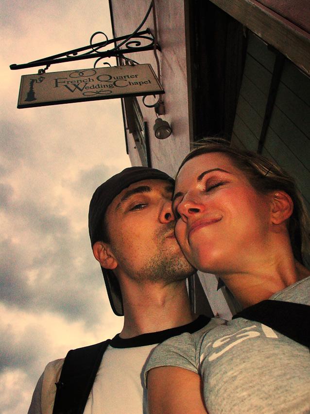 Our voodoo self-wedding self-portrait, New Orleans