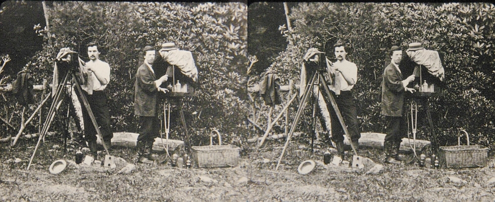 Early stereo photographers in the field.