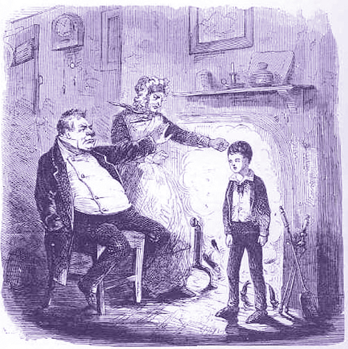 "McLenan, John. ""Leave this lad to me, Ma'am; leave this lad to me.""  From the T. B. Peterson single-volume edition of 1861 of Charles Dickens' Great Expectations.  Public Domain via Wikimedia Commons."