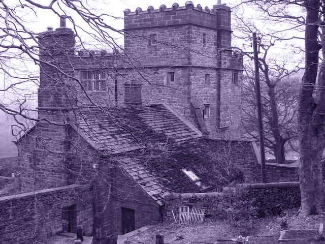 Proctor, John. North Lees Hall. 2006. One of the two homes thought to be the basis for Thornfield Hall in Charlotte Bronte's Jane Eyre. Creative Commons via Wikimedia Commons.